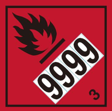 数字シール(イメージ)9999
